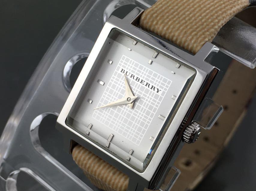 1円~★レディース高級腕時計 SWISS MADE バーバリー BURBERRY 動作品_画像2