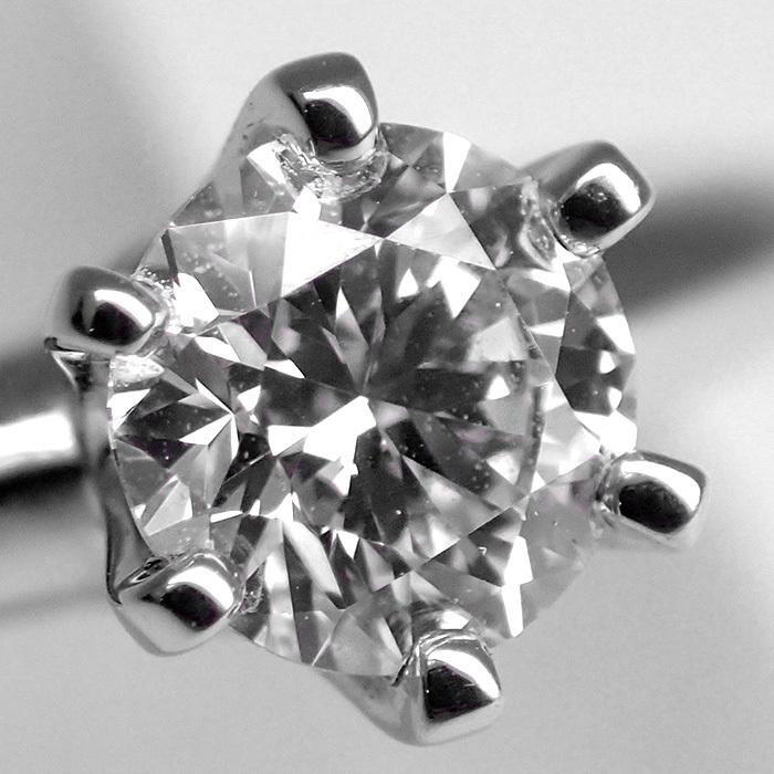 【TIFFANY(ティファニー)】ソリティアダイヤモンドリング 0.35ct Pt950 4.2g サイズ変更無料 【鑑別書・ワランティ・ケース付き】EE0_画像3