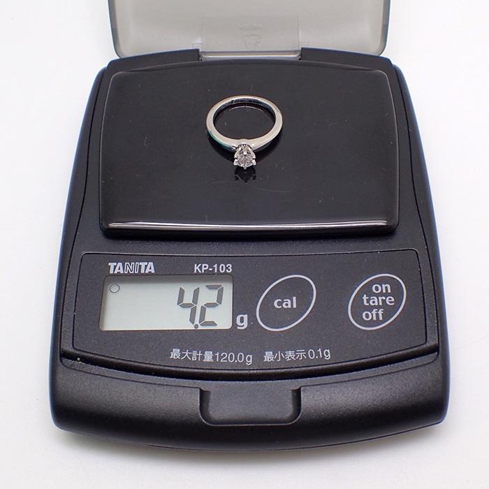 【TIFFANY(ティファニー)】ソリティアダイヤモンドリング 0.35ct Pt950 4.2g サイズ変更無料 【鑑別書・ワランティ・ケース付き】EE0_画像7