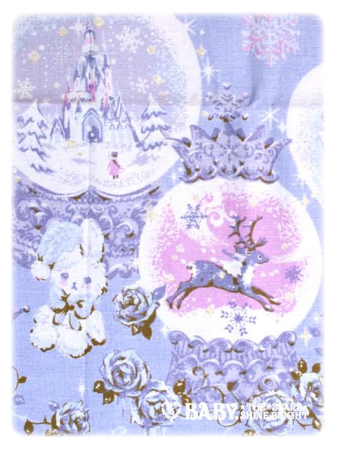 新品☆BABY,THE STARS SHINE BRIGHT☆雪の女王スノードーム柄ジャンパースカート・ヘッドドレス・オーバーニーソックス3点セット_画像4