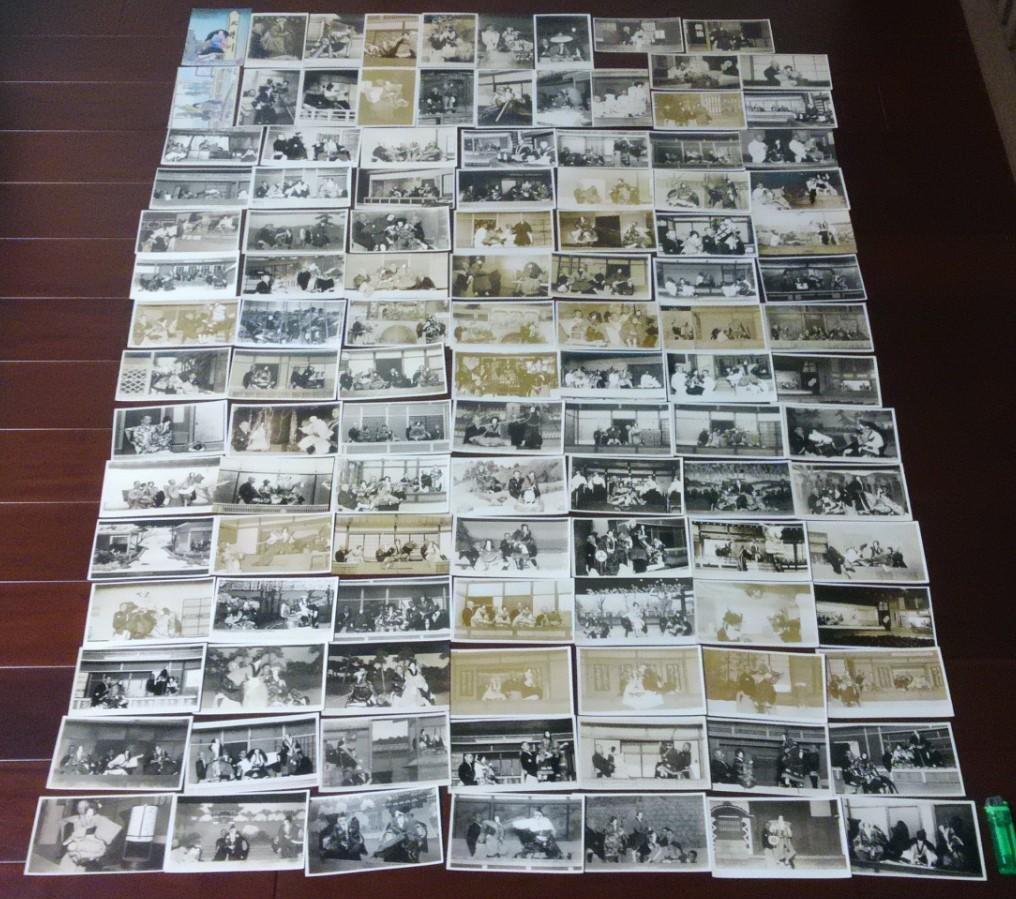 戦前の文楽写真・絵葉書大量112枚 1枚に吉田文五郎直筆サイン