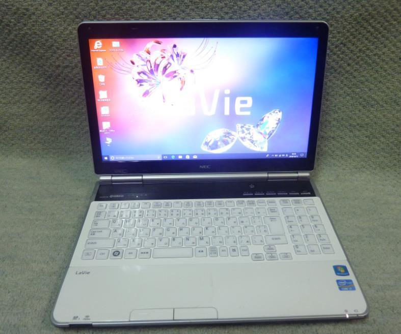 NEC LaVie LL750/F LL750F26W ★ Core i7-2670QM 4コア/メモリ8GB/爆速SSD512GB/Blu-ray/HDMI/office/15型/Win 10/Windows 7 Home Premium