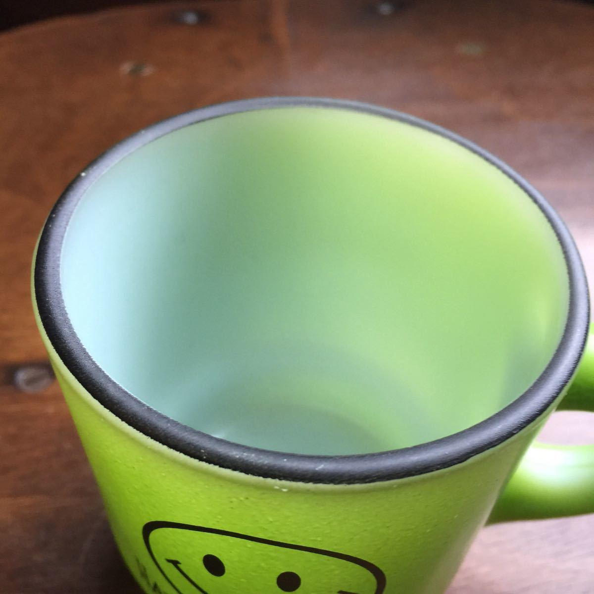 【81】ファイヤーキング スマイル HAVE A NICE DAY スタッキング マグカップ 緑 Fire King k353_画像8