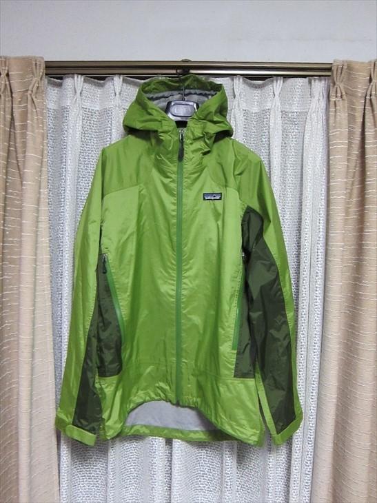 パタゴニアpatagonia防水マウンテンパーカージャケットXS黄緑_画像1