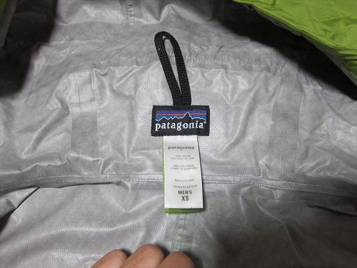 パタゴニアpatagonia防水マウンテンパーカージャケットXS黄緑_画像5