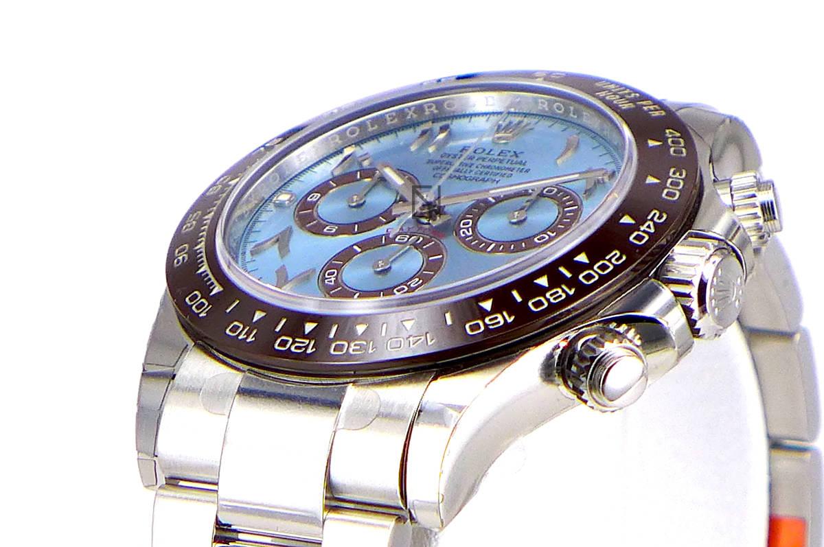 正品新品ROLEX勞力士代托納冰藍色阿拉伯錶盤鉑金116506盒,帶畫廊 編號:t604698947