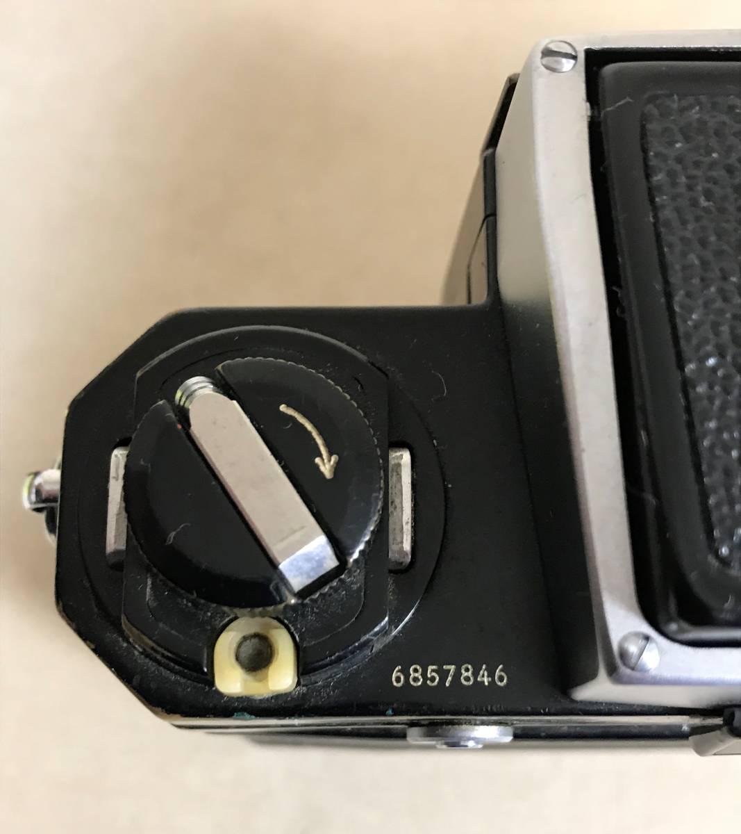 ニコン Nikon F フィルムカメラ/シリアルNO 6857846 Nikon JAPAN_画像3