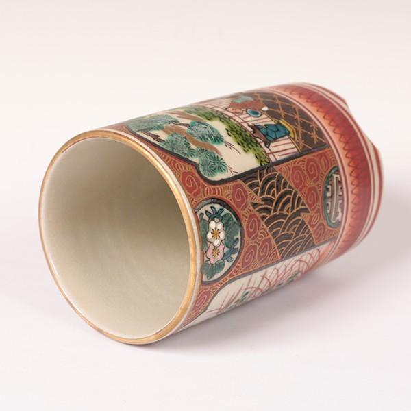 古九谷焼 【九谷庄三】 ◆筆筒◆ 骨董・古玩・古美術品・古道具 【抹茶碗・茶器・茶道具・共箱】 207-k2_画像5