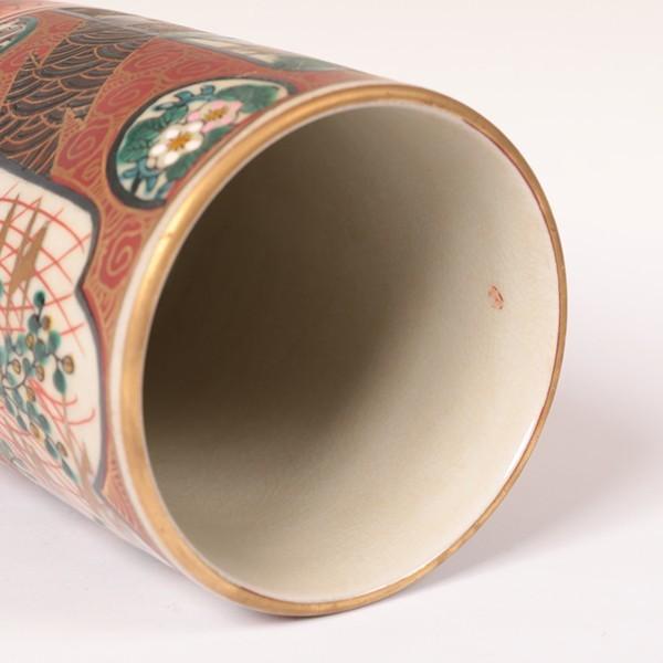 古九谷焼 【九谷庄三】 ◆筆筒◆ 骨董・古玩・古美術品・古道具 【抹茶碗・茶器・茶道具・共箱】 207-k2_画像7