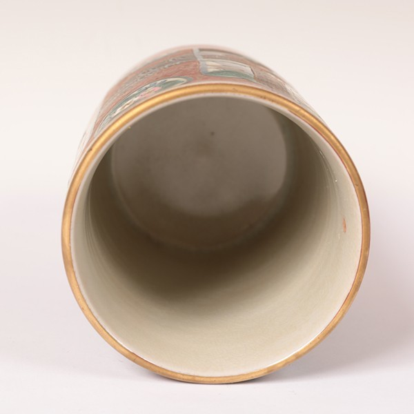 古九谷焼 【九谷庄三】 ◆筆筒◆ 骨董・古玩・古美術品・古道具 【抹茶碗・茶器・茶道具・共箱】 207-k2_画像6
