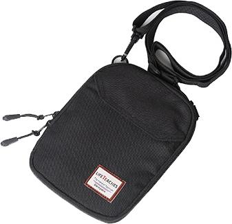 ミニ ショルダーバッグ / ブラック ボディバッグ 多機能 小さめ 無地 ボディバッグ ウエストポーチ ワンショルダー