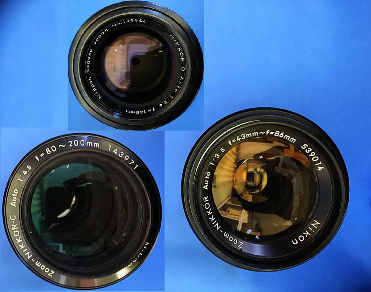Nikon ニコン F ボディ+24mm 50mm 55mm 86mm 105mm 135mm 80~200mm 300mm等 レンズ多数 _画像8