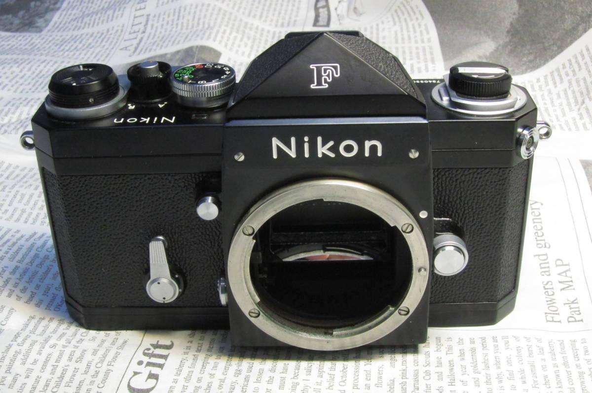 美品 Nikon F ニコンF ブラック 黒 アイレベル 元箱、取扱説明書、ケース付 _画像3