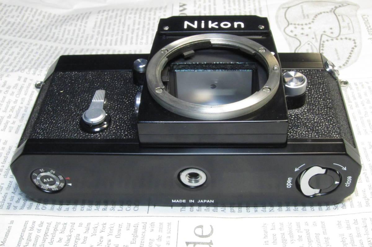 美品 Nikon F ニコンF ブラック 黒 アイレベル 元箱、取扱説明書、ケース付 _画像5