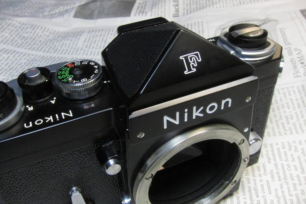 美品 Nikon F ニコンF ブラック 黒 アイレベル 元箱、取扱説明書、ケース付 _画像8