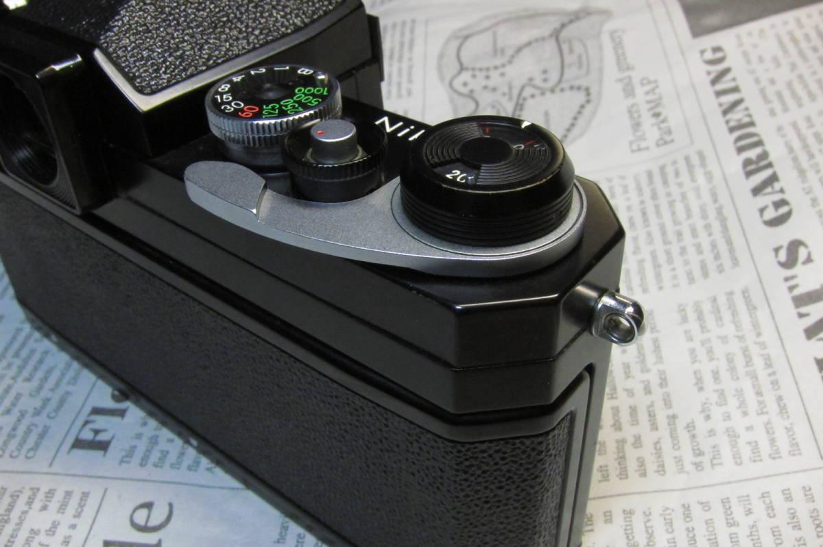 美品 Nikon F ニコンF ブラック 黒 アイレベル 元箱、取扱説明書、ケース付 _画像9