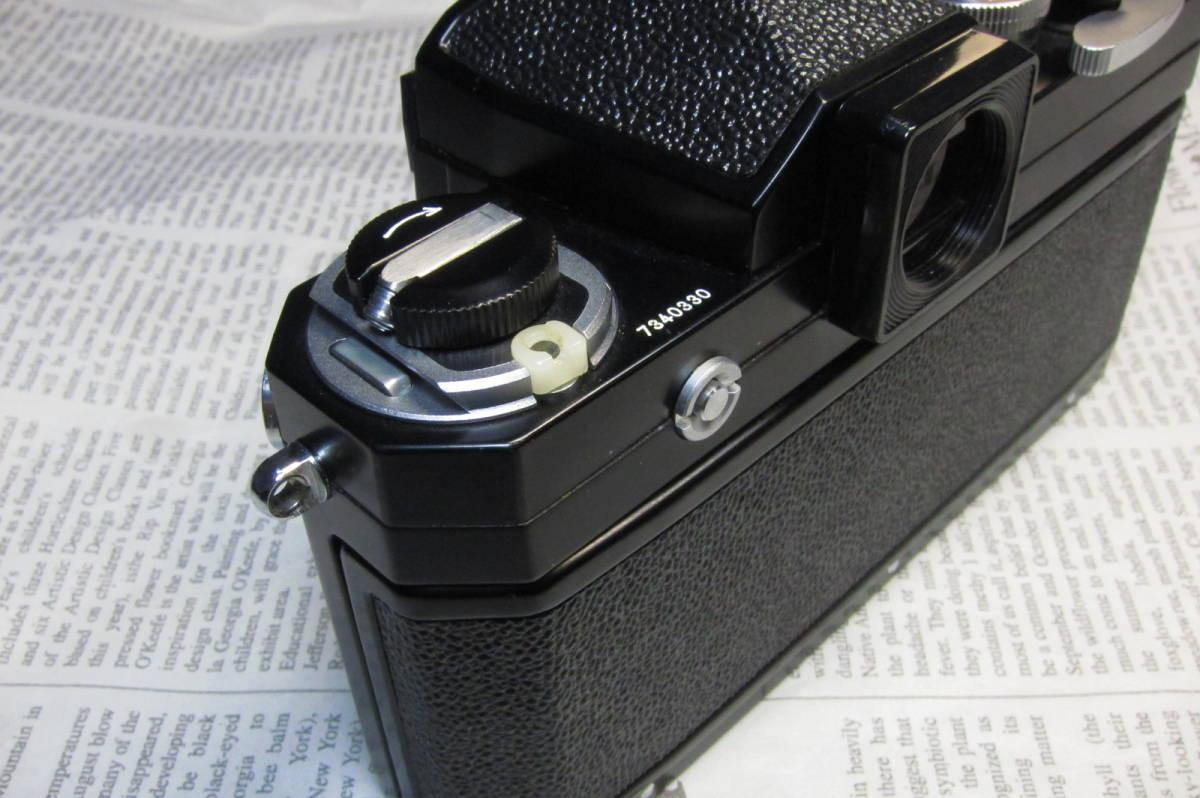 美品 Nikon F ニコンF ブラック 黒 アイレベル 元箱、取扱説明書、ケース付 _画像10
