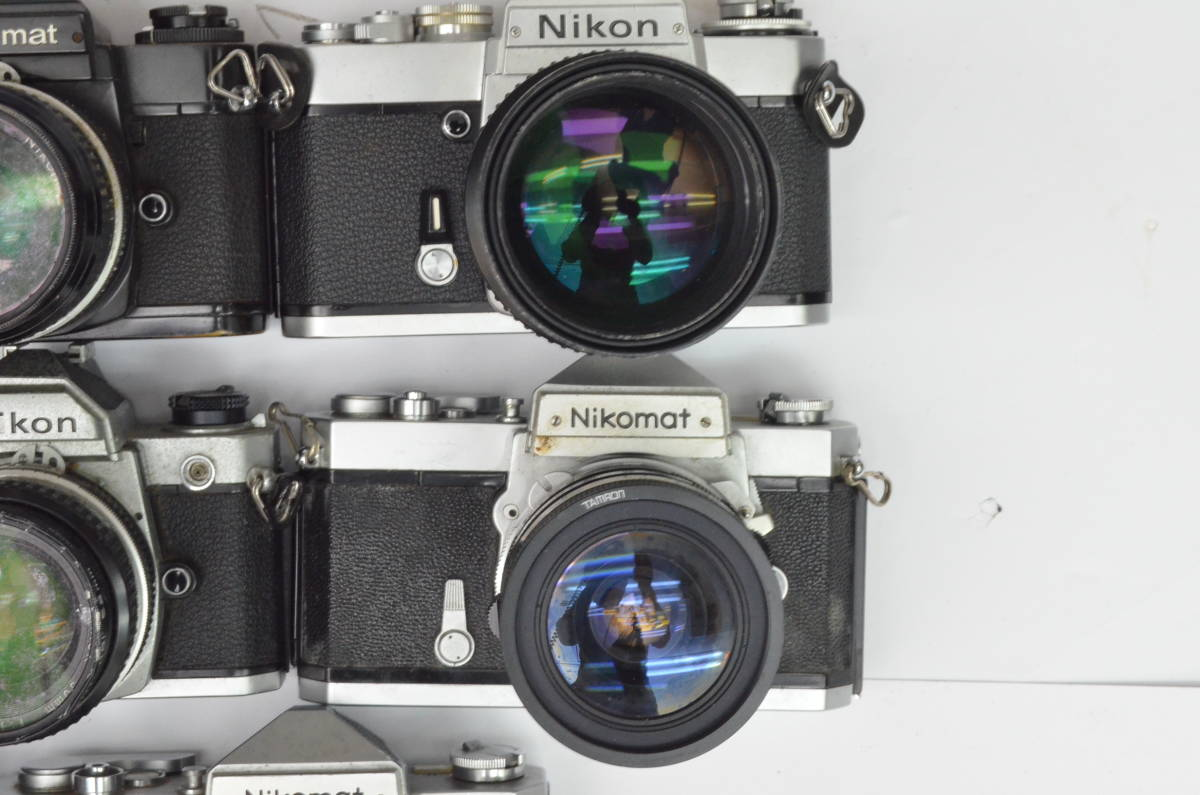 S43 NIKON ニコン EL EM FTN FG-20 FM 8台 50mm 他 一眼レフ MF マニュアル レンズ まとめてセット_画像2
