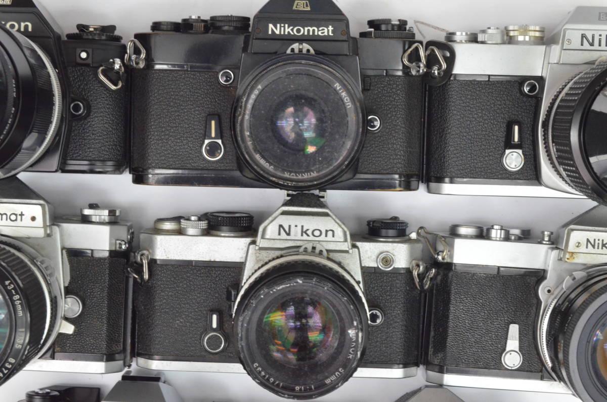 S43 NIKON ニコン EL EM FTN FG-20 FM 8台 50mm 他 一眼レフ MF マニュアル レンズ まとめてセット_画像3