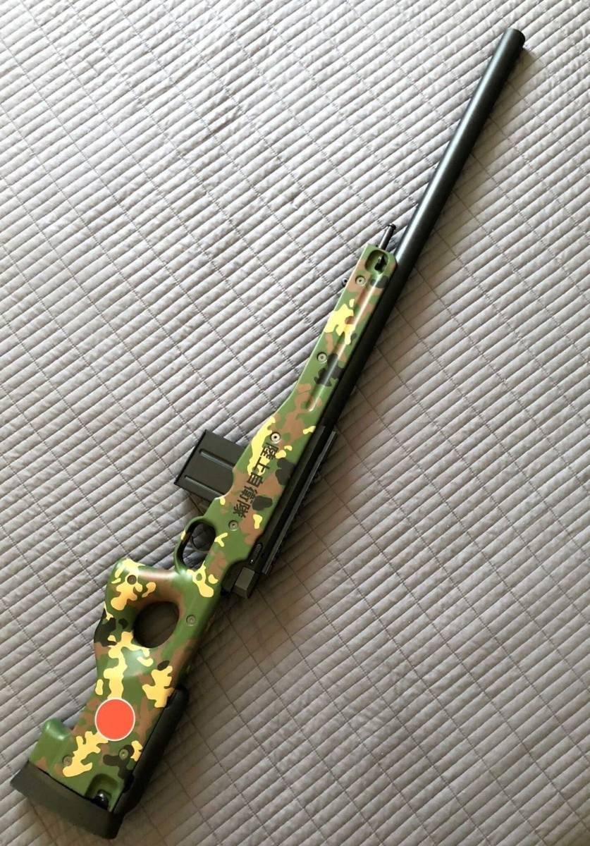 キャンセルのため再出品 l96 AWS 陸上自衛隊カスタム 流速チューン 内外カスタム重量弾使用(検マルイm4 Hk416 ksc hk45 kwa g&g ump p90_画像3