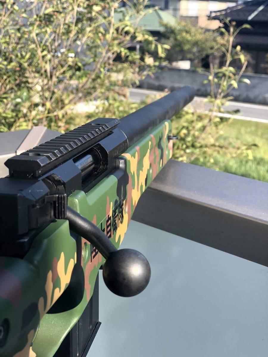 キャンセルのため再出品 l96 AWS 陸上自衛隊カスタム 流速チューン 内外カスタム重量弾使用(検マルイm4 Hk416 ksc hk45 kwa g&g ump p90_画像5