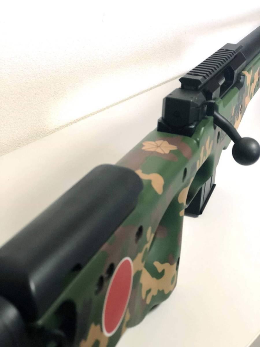 キャンセルのため再出品 l96 AWS 陸上自衛隊カスタム 流速チューン 内外カスタム重量弾使用(検マルイm4 Hk416 ksc hk45 kwa g&g ump p90_画像8