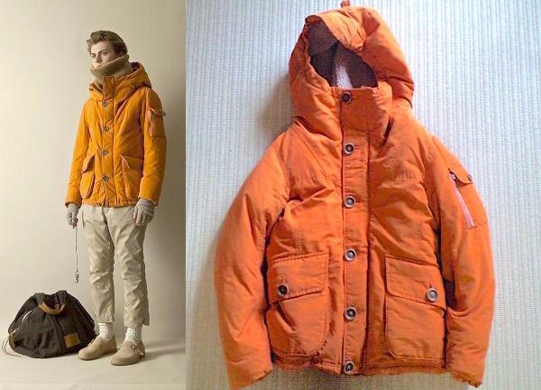 即決 美品 nonnative HIKER DOWN JACKET 60/40 CLOTH size 1 オレンジ NN-JU2204
