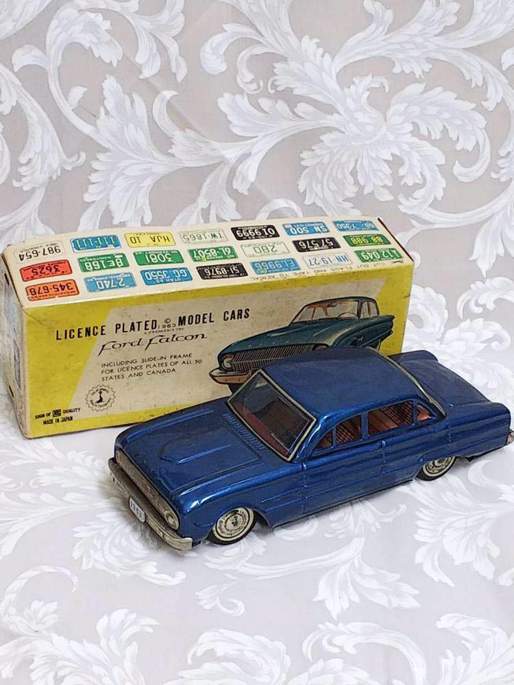 ::: 昭和レトロ BANDAI ブリキ Ford Falcon 1963年式 レア :::
