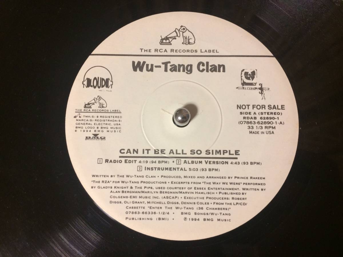 WU-TANG CLAN ♪CAN IT BE ALL SO SIMPLE US オリジナル_画像1