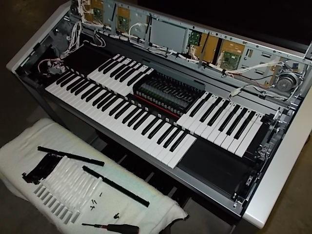 鍵盤20本外して点検しました。