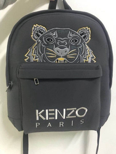 KENZO/ケンゾー 黄色いトラの顔 男女兼用バッグ リュックサック バックパック 大人気新品 ダークグレー