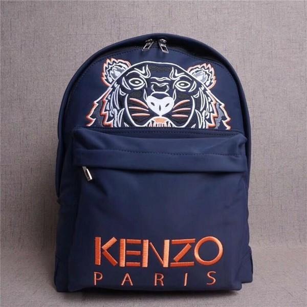 KENZO/ケンゾー トラの顔 男女兼用バッグ リュックサック バックパック 大人気新品 ネイビー+ピンク