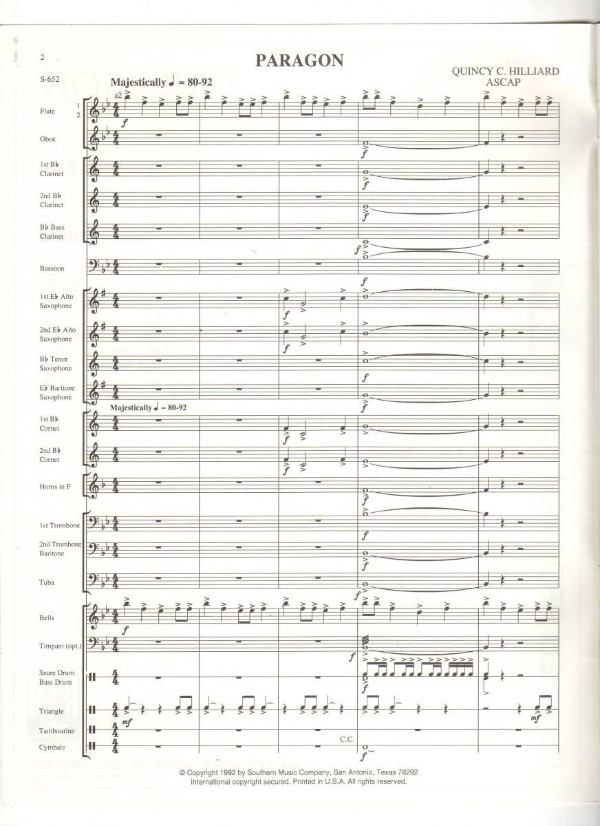 吹奏楽楽譜/クインシー・ヒリアード:パラゴン/試聴可/絶版/グレード1.5_画像3