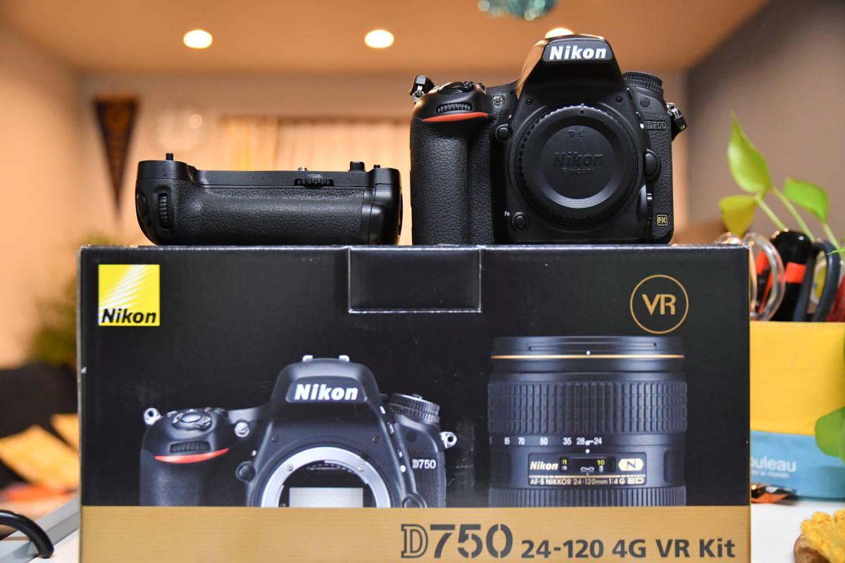 Nikon ニコン D750 ボディ 純正バッテリーグリップセット 美品