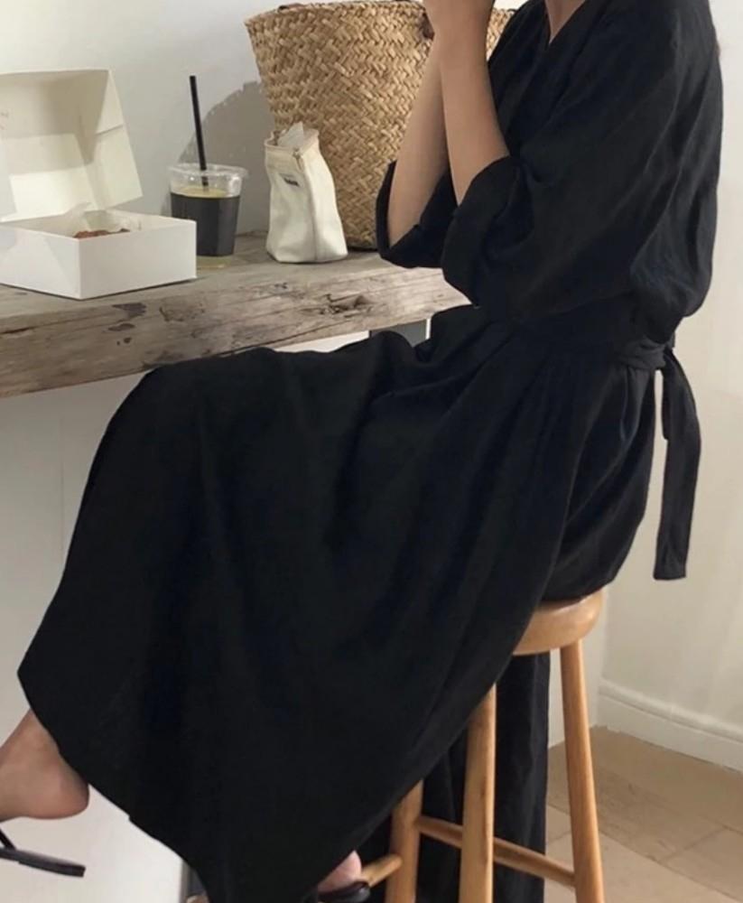 現在你可以使用它!模特Nozawa Kazuka閉幕V開放長禮服禮服Fuwari襯衫海賊王是可能可用的多用途雙向黑色!黑色一件 編號:v593270517