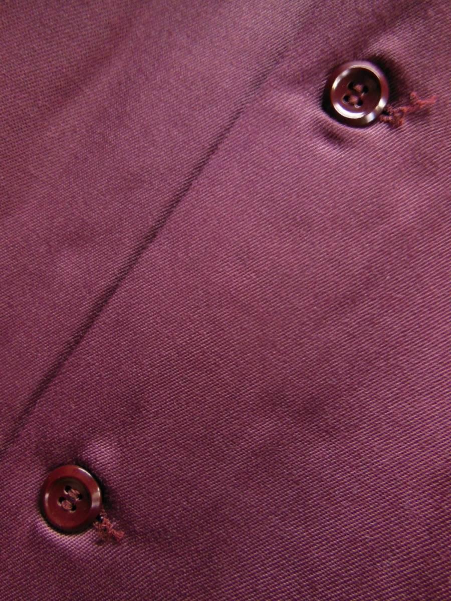 40S50S デッドストック ビンテージPERSONALITY ボックス レーヨン ギャバシャツ/M/バーガンディー_画像6