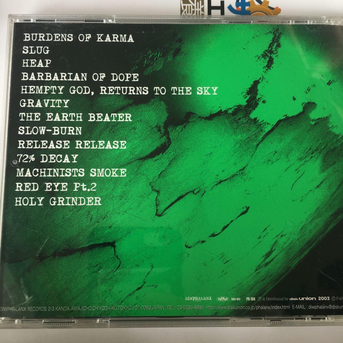 Greenmachine - The Earth Beater +3 ('03) 帯付 グラインドコア ストーナー 激レア 再発盤_画像3