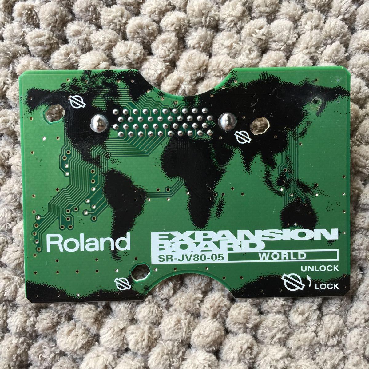 希少 2枚セット Roland expansion board SR-JV80-10 bass&drum SR-JV80-05 world_画像2