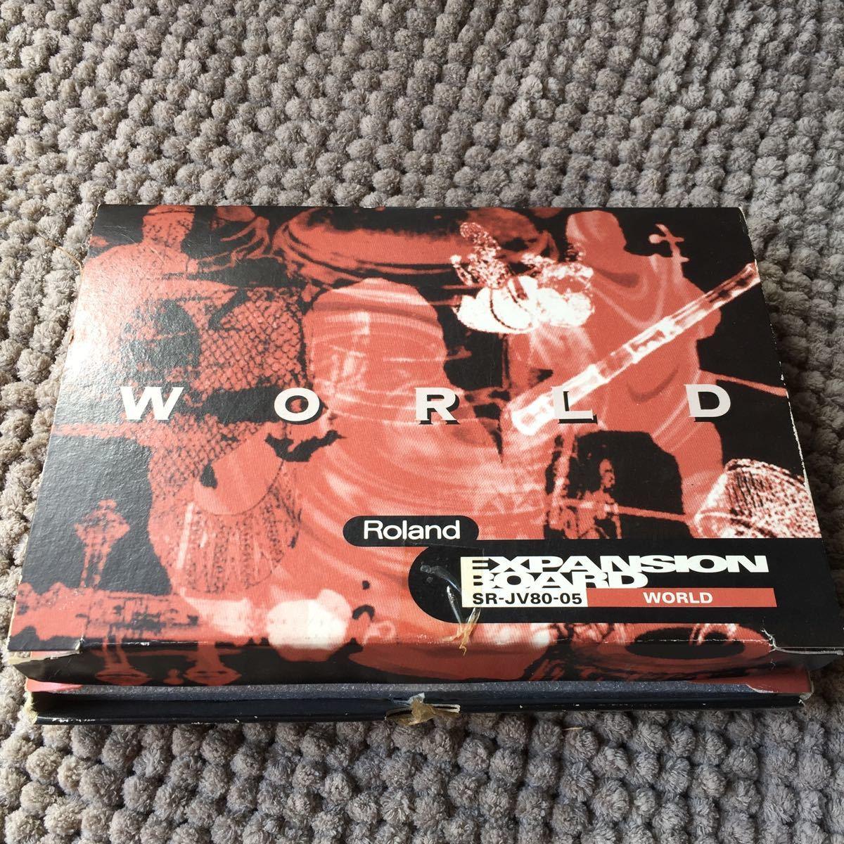 希少 2枚セット Roland expansion board SR-JV80-10 bass&drum SR-JV80-05 world_画像5