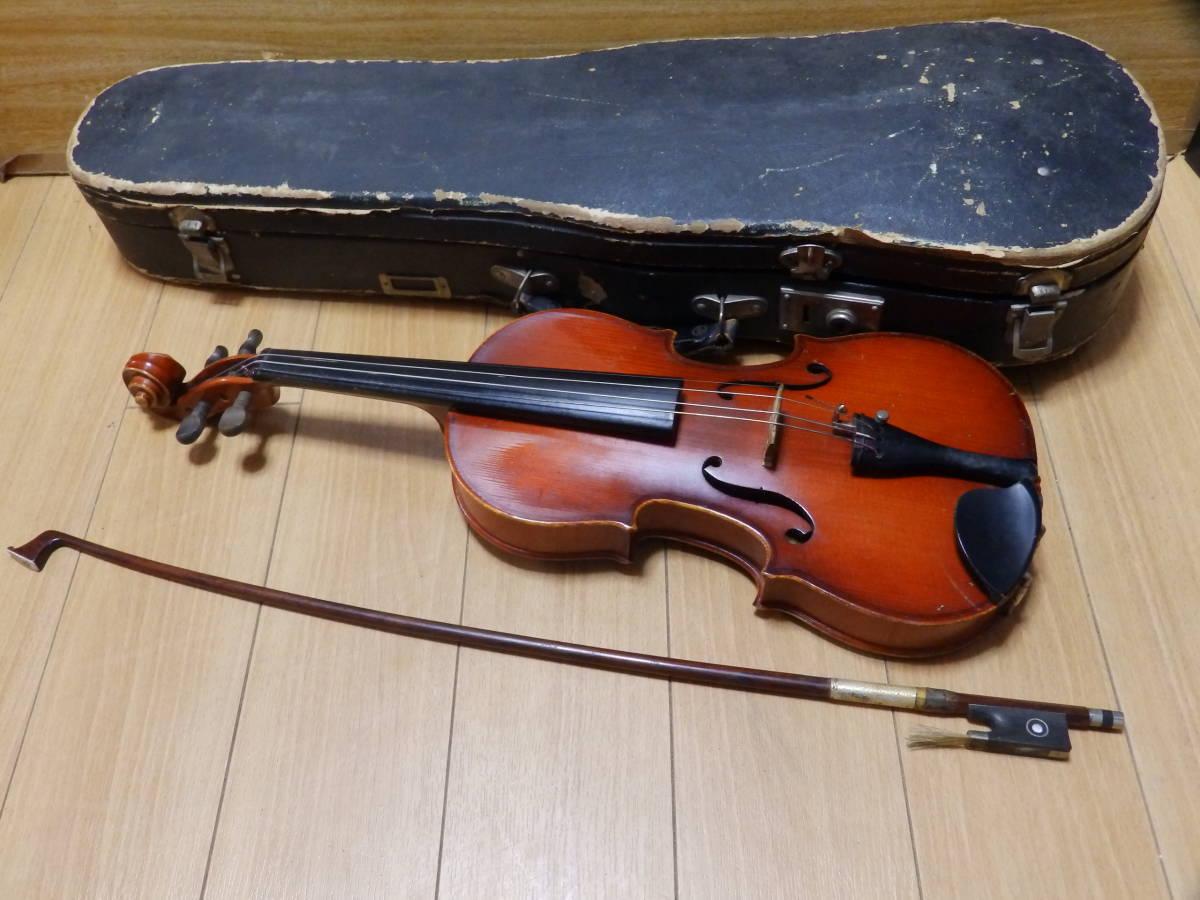SUZUKI VIOLIN 1964年製 スズキ バイオリン No.13 壊れハードケース付・長さ(約)48cm/送料無料!!!