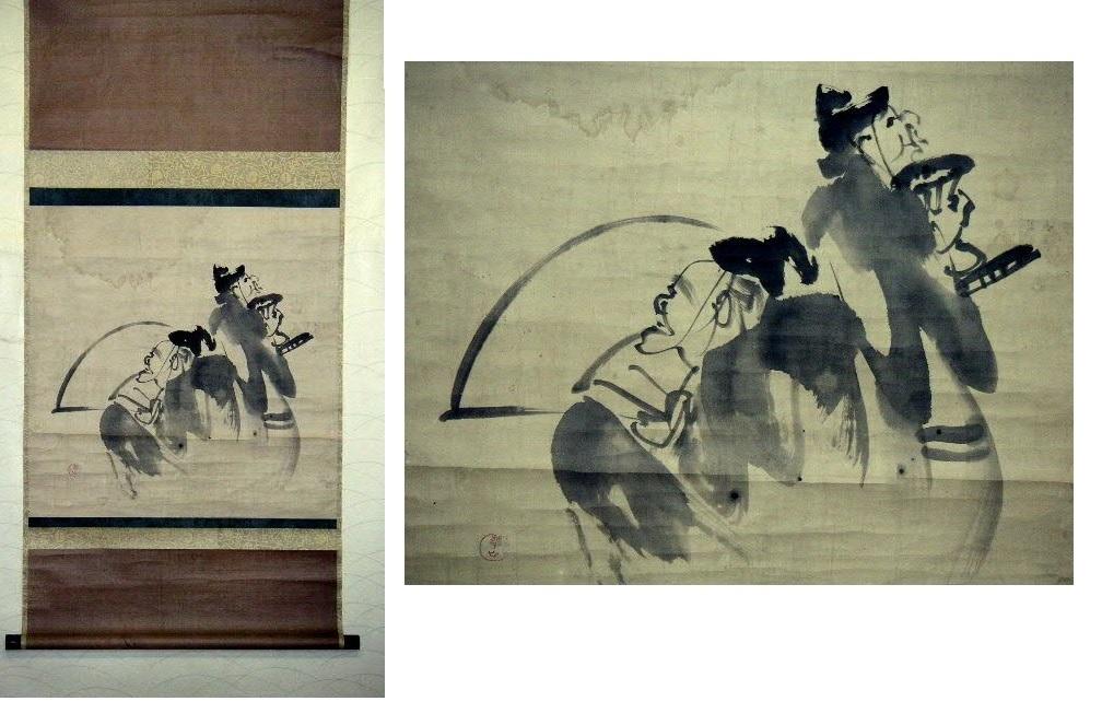 ◎蔵くら◎ 【模写】 日本画 【 渡辺 崋山 】 掛け軸 ◎ 181023 A94 掛軸 骨董 古玩 古画 中国 古筆 アンティーク レトロ