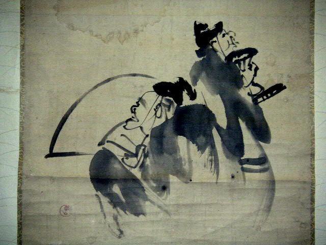 ◎蔵くら◎ 【模写】 日本画 【 渡辺 崋山 】 掛け軸 ◎ 181023 A94 掛軸 骨董 古玩 古画 中国 古筆 アンティーク レトロ_画像3