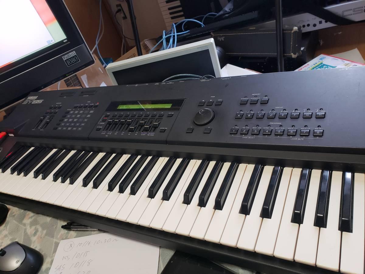 [大幅値下げ]YAMAHA SY85 FDD Emu搭載、ベロシティ問題対応、タクトスイッチ全交換、鍵盤リビルド済み