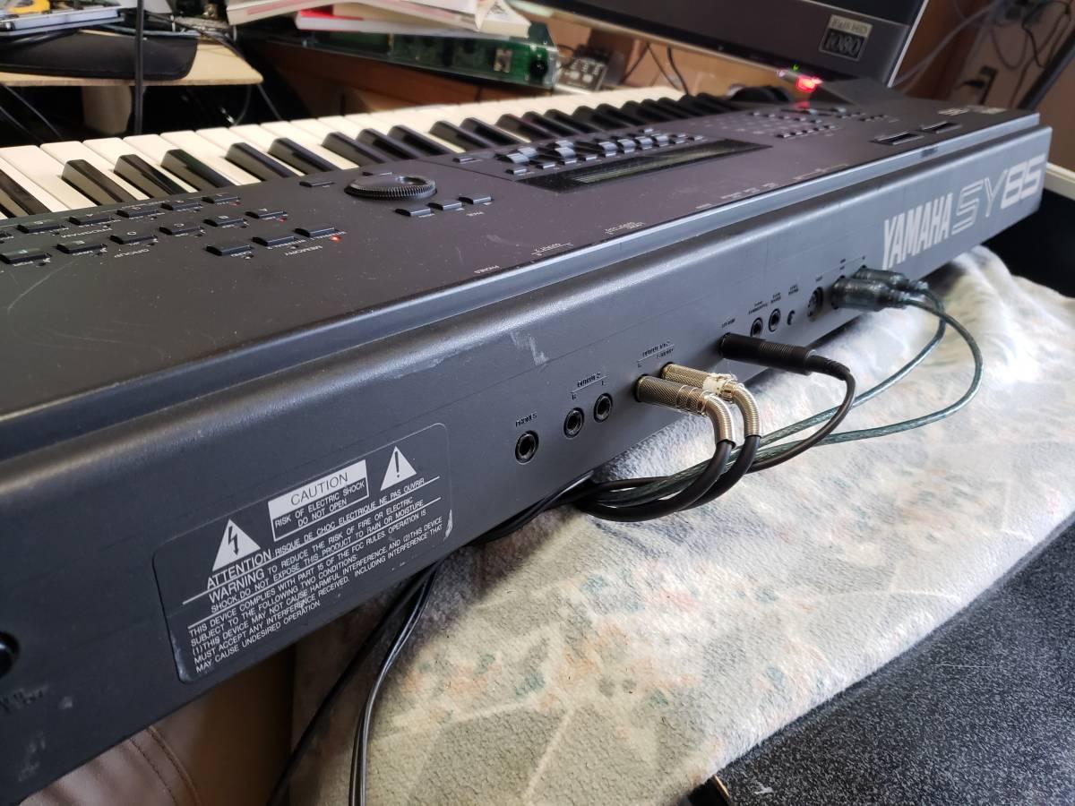 [大幅値下げ]YAMAHA SY85 FDD Emu搭載、ベロシティ問題対応、タクトスイッチ全交換、鍵盤リビルド済み_画像6