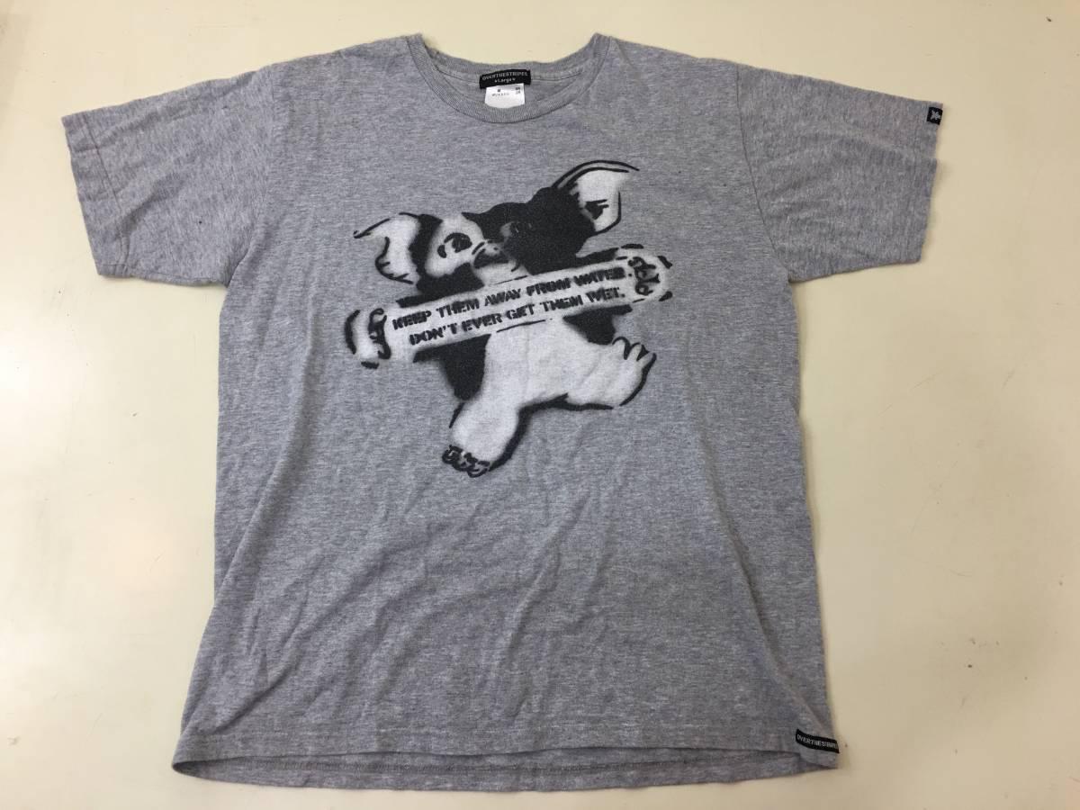 Tf10/05/017 オーバー ザ ストライプス OVER THE STRIPES Tシャツ スプレー仕上げ