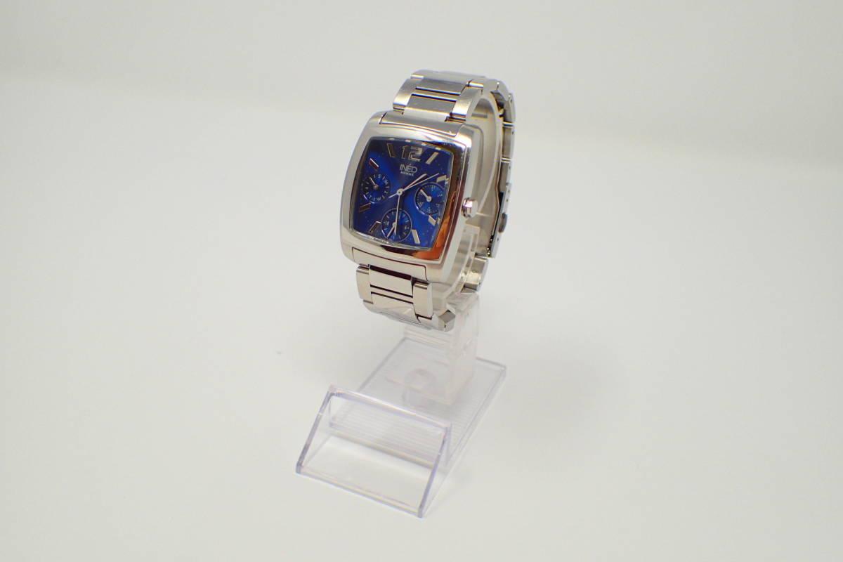 ●INED 6329 イネド 腕時計 カレンダー機能 美品 徹底洗浄_画像3