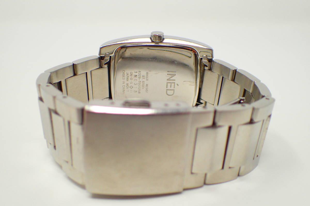 ●INED 6329 イネド 腕時計 カレンダー機能 美品 徹底洗浄_画像4