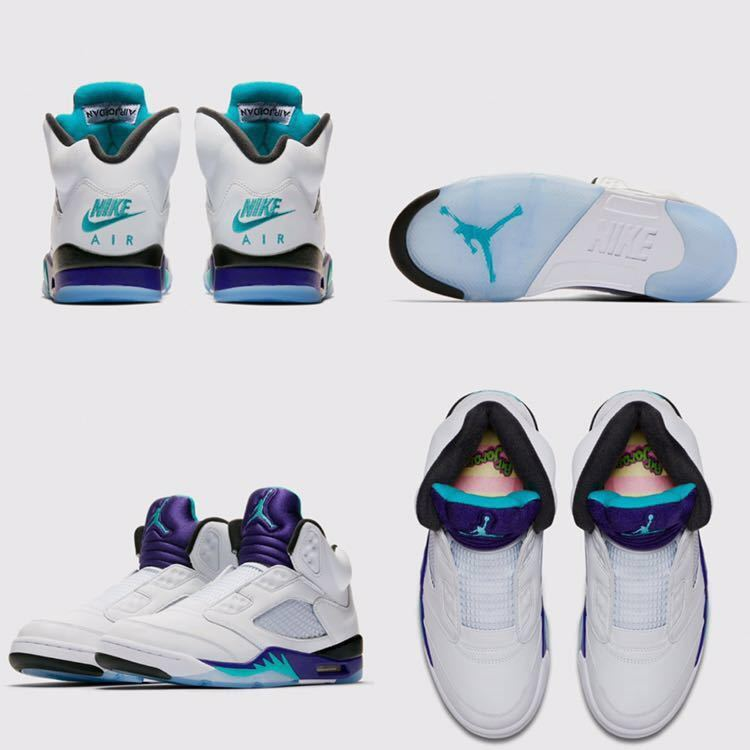 261570c01864b2 Nike Air Jordan 5 Retro NRG us10.5 28.5cm Fresh Prince Ice Grape domestic  regular goods free shipping