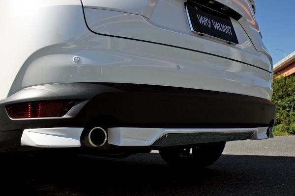 特価 ガレージベリー バリアント KG CX-8 CX8 リアアンダー スポイラー エアロ_カーボンプレート装着画像です。