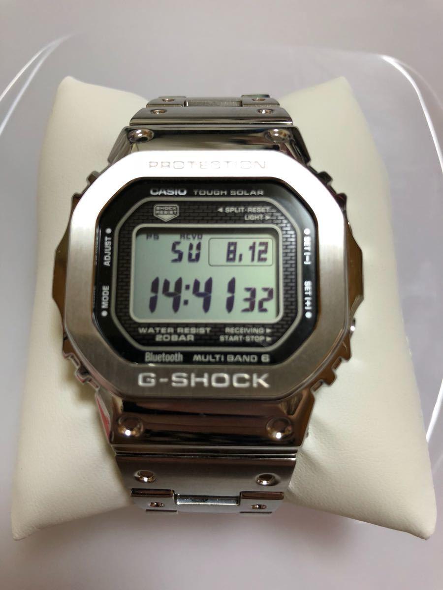 [美容用品]卡西歐卡西歐G  -  SHOCK GMW  -  B 5000 D  -  1 JF收音機太陽能35週年紀念款銀色全金屬 編號:j523929003